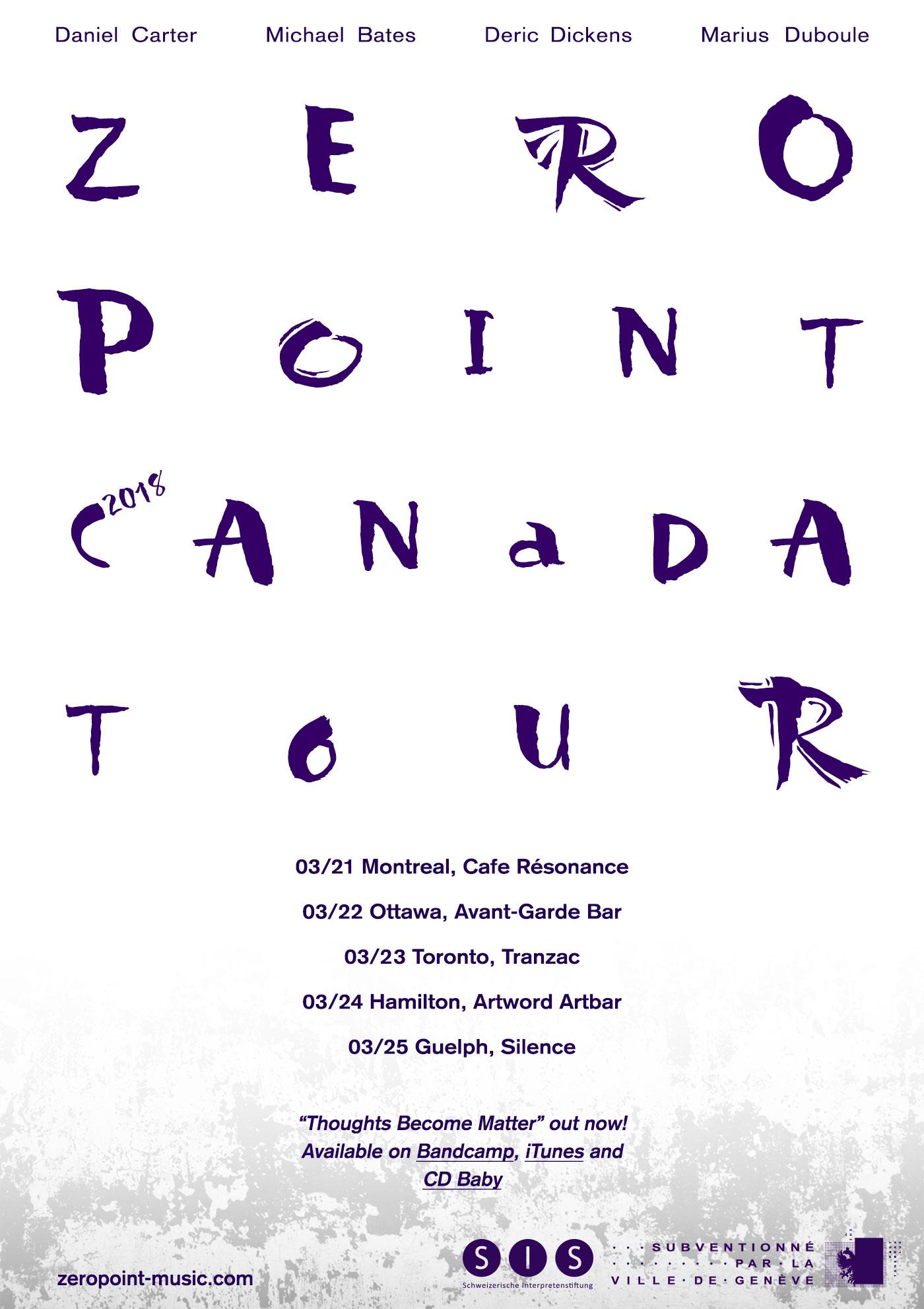 Zero Point 2018 Canada Tour