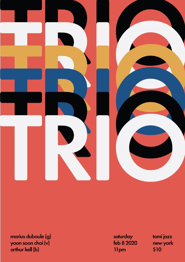Marius Duboule Trio at Tomi Jazz Feb 2020